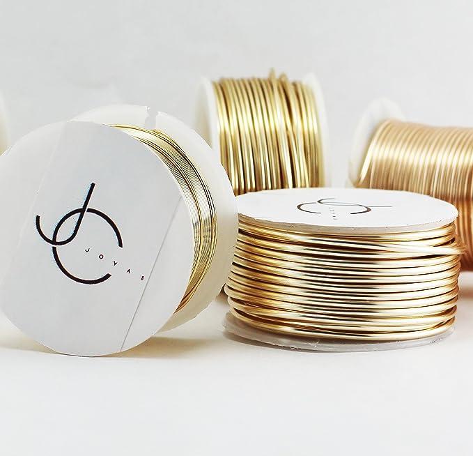 Amazon.com: Creartejoyas Paquete De 2 Rollos De Alambres #24 Jewelry Wire, Alambre De Bisuteria