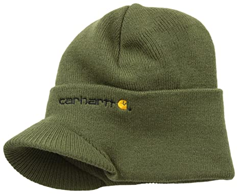 9c33ab0e018 Carhartt Men s Knit Hat With Visor at Amazon Men s Clothing store ...