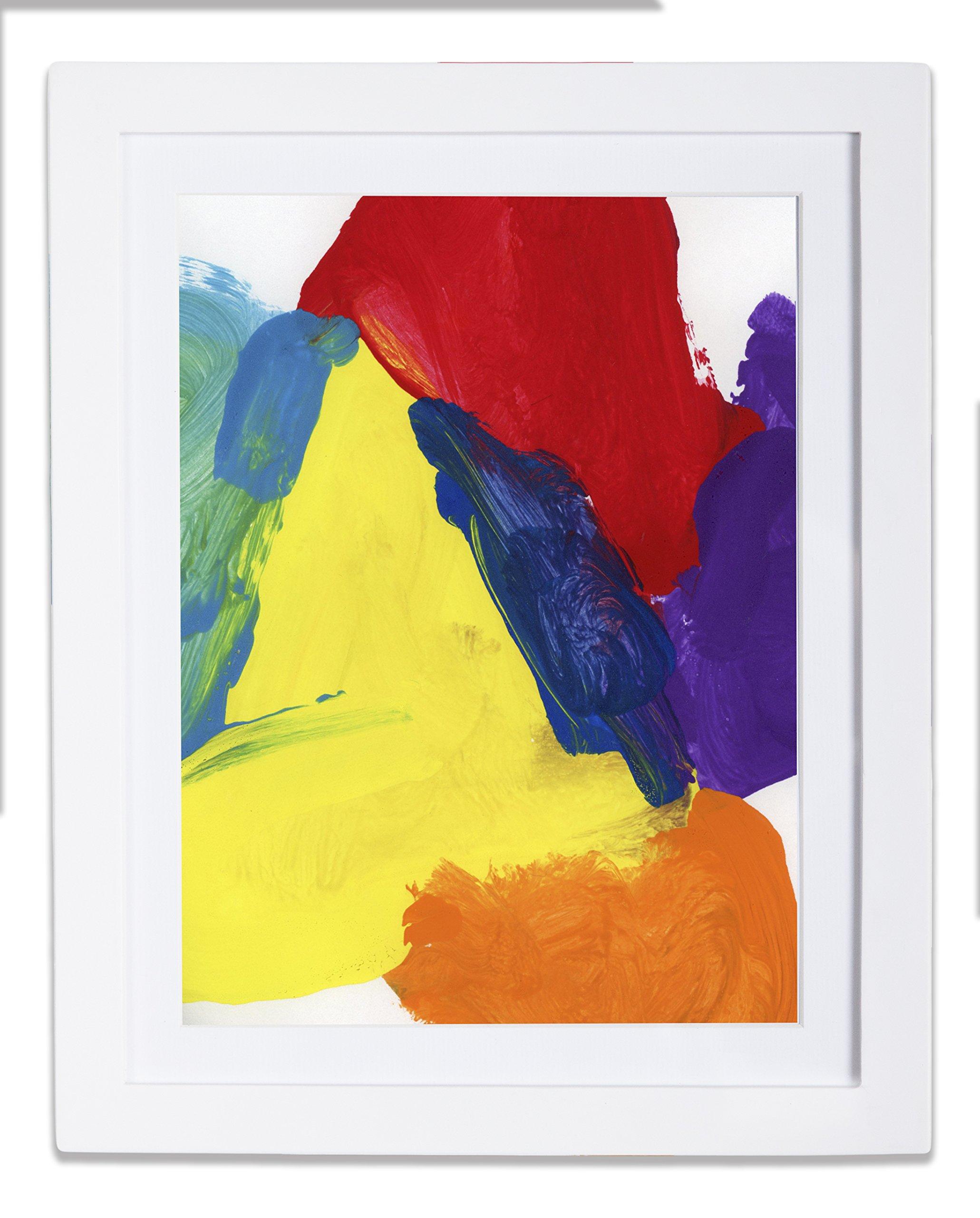 dynamicFRAMES® Li'l Davinci 8.5x11 Kids Art Frame, White wood