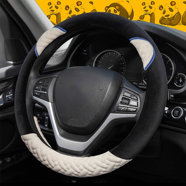 15 XuanMax Adorabile Cartoon Orso Coprivolante Auto Peluche Antiscivolo Invernale Felpa Copertura del Volante dellautomobile 38 cm per Donna Ragazze Signore Beige