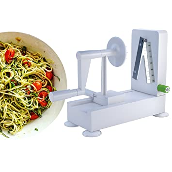 Image result for Veggie Spiralizer - Best Vegetable Maker, Spiral Slicer, Terrine Maker and Shredder You'll Ever Use! (4 Blade)