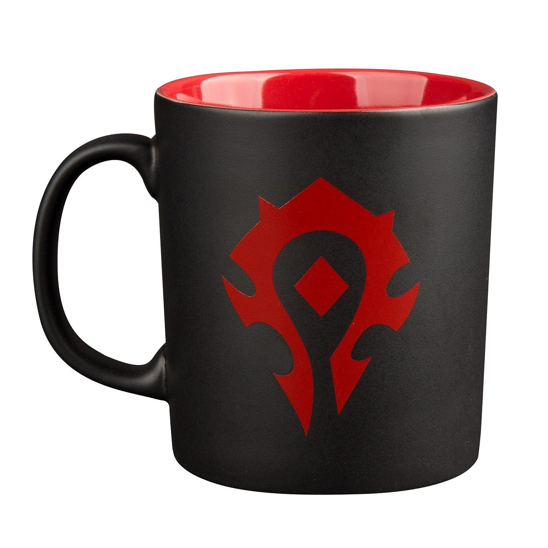 World of Warcraft Horde logo della Coppa 325ml rosso ceramica nera Elbenwald