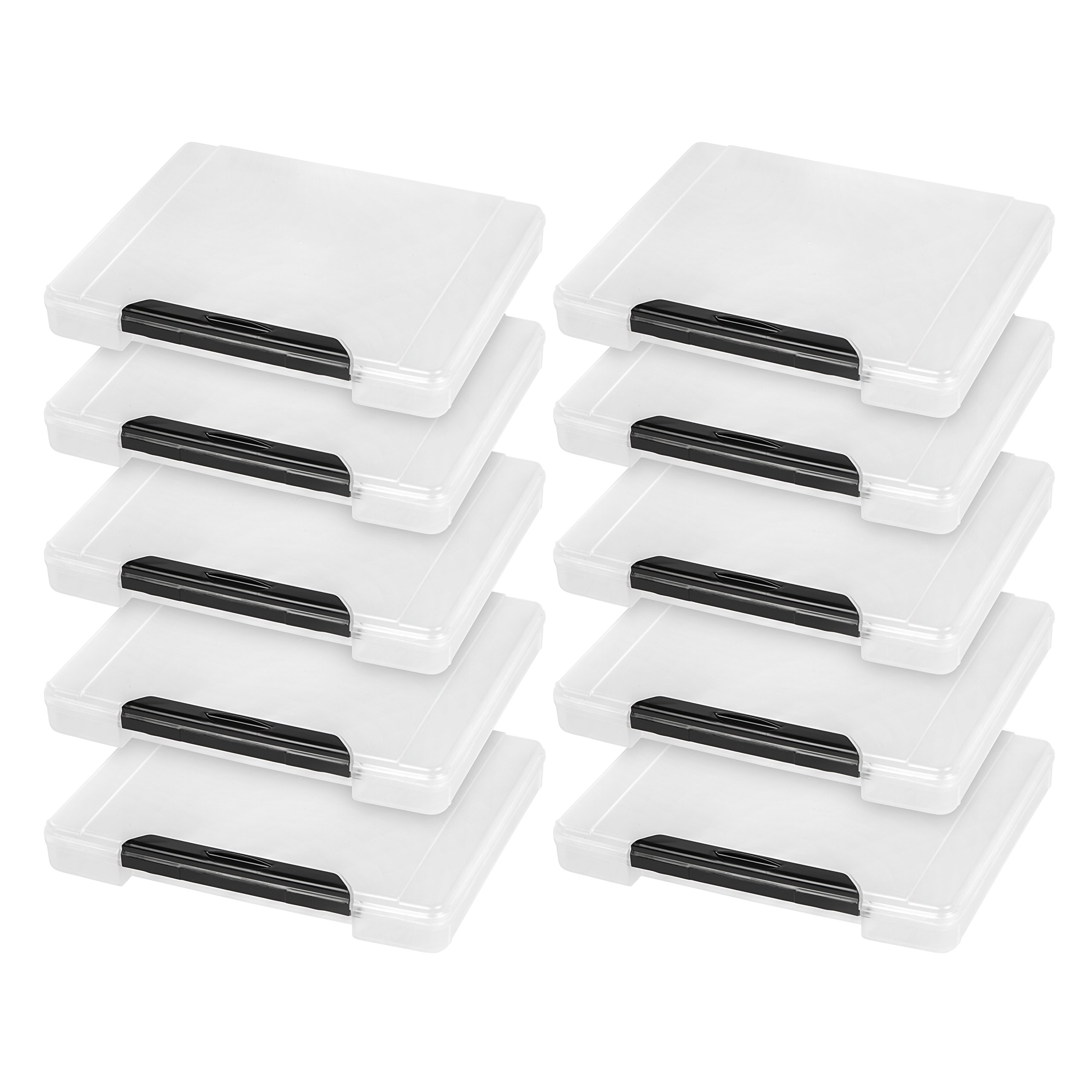 IRIS Portable Project Case with Buckle, 10 Pack, Clear