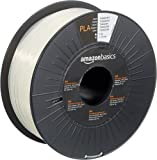 AmazonBasics PLA 3D Printer Filament, 1.75mm, Translucent, 1 kg Spool