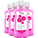 Mountain Falls Anticavity Fluoride Rinse for Kids, Bubble Gum, 16.90 Fluid Ounce (Pack of 4)