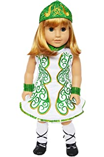 my brittanys green irish dance outfit for american girl dolls doll clothes for american girl - Irish Dancer Halloween Costume