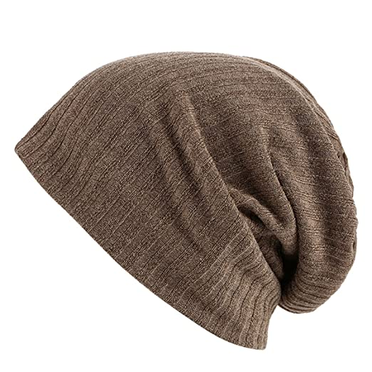 f03caa02 Zando Solid Daily Lightweight Turban Slouchy Beanie Hat Cap Fashion Soft  Stretchy Beanies Hip Hop Skull Caps Brown at Amazon Men's Clothing store: