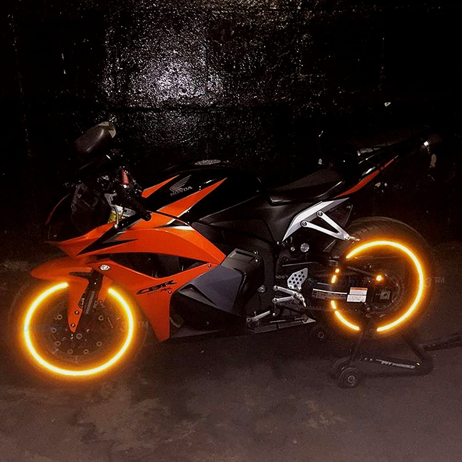 Rim Size 10 Must select your rim size customTAYLOR33 All Vehicles Orange High Intensity Grade Reflective Safety Rim Tapes