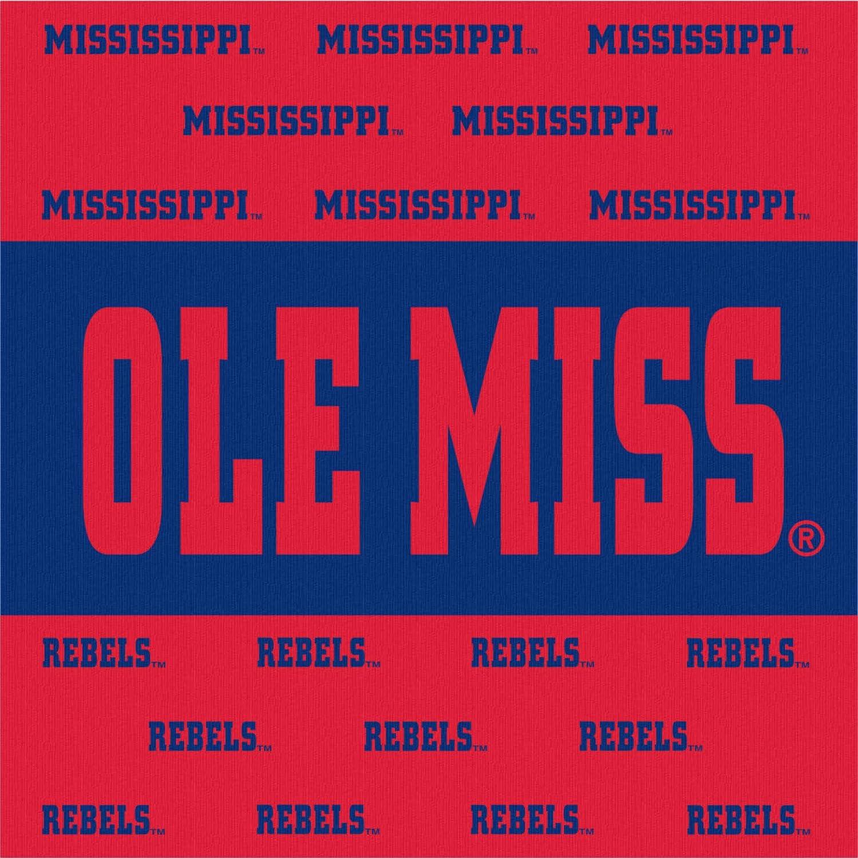 64 Pieces Westrick Mississippi Rebels Napkins /& Plates Serves 32