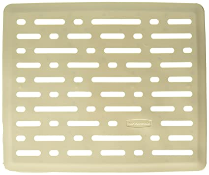 Rubbermaid Evolution Antimicrobial Sink Mat, Small, Bisque FG1G1706BISQU