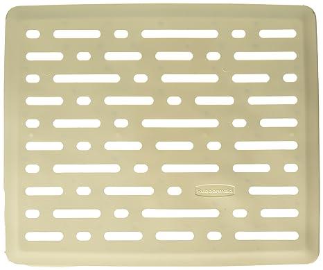 Rubbermaid Evolution Antimicrobial Sink Mat, Small, Bisque FG1G1706BISQU