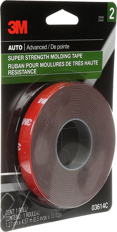 "3M 03614 Scotch-Mount 1/2"" x 15' Molding Tape (2-Rolls)"