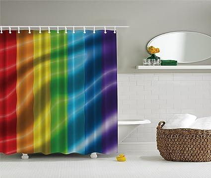 Bandera Del Arco Iris Cortina De Ducha Gay Pride Parade Fantasia