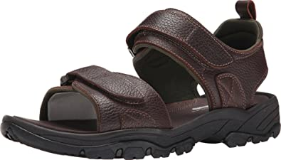 Rockport Men's Rocklake Flat Sandal, Brown/Brown, ...
