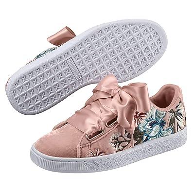 best sneakers 64bd2 832ed Puma Women's Basket Heart Hyper Emb Wn S Peach Beige ...