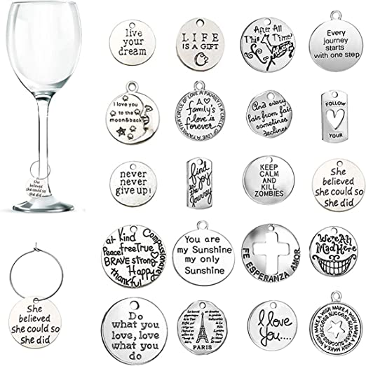 Amazon Com 20 Pcs Wine Glass Charms Cnymany Inspiration Text Themed Goblet Drink Markers Tags With Buckle Design For Wine Cocktail Champagne Tasting Party Favors Decoration Supplies Gifts Glass Markers Charms,What Is A Marriage License Application