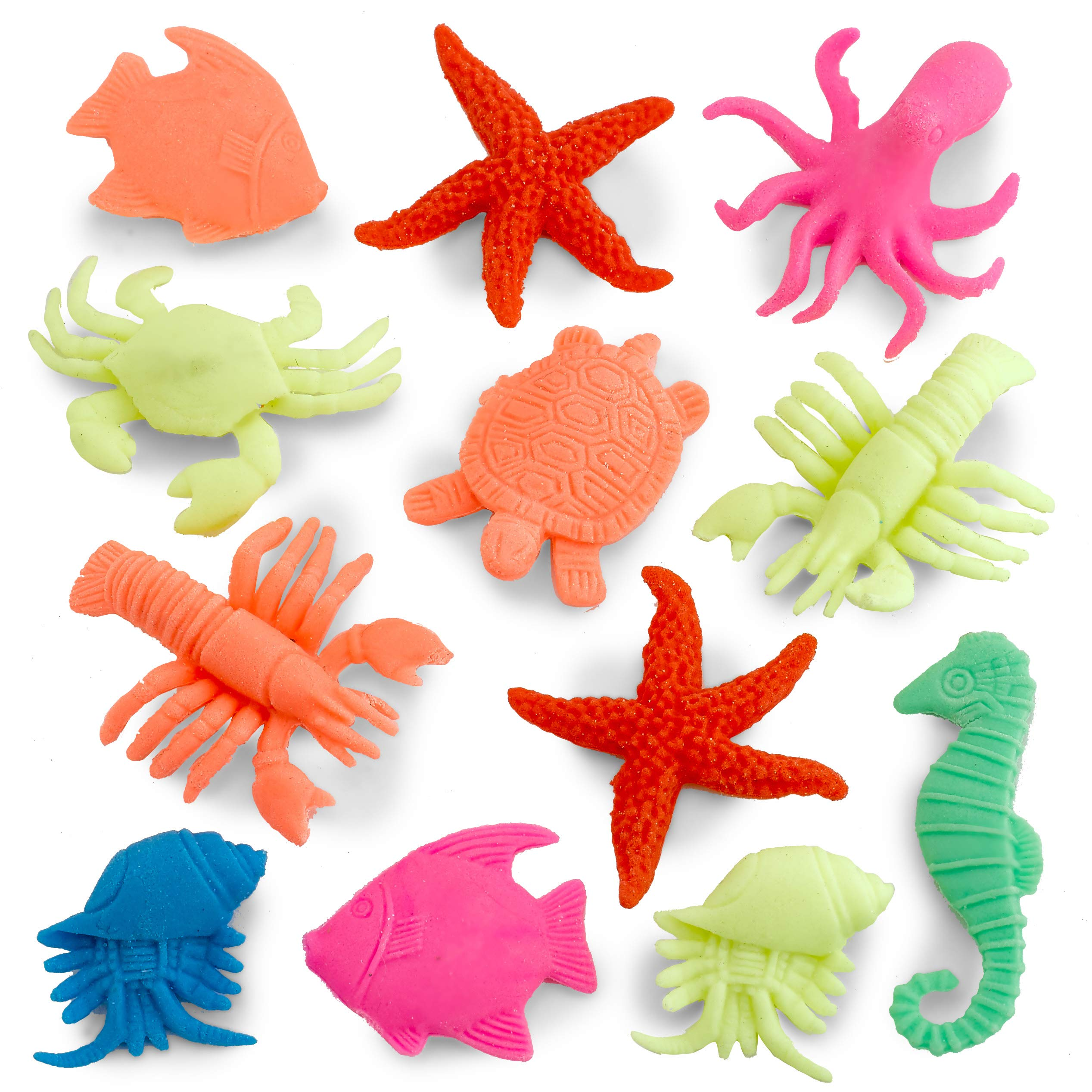 Kidsco Growing Animals Sea Life - Pack of 12 Creatures Figures, 1.25'' to 2'', Assorted Colored Animals - Grows Like Magic in Water - Fun Toy for Kids Boys and Girls, Party Favor, Gift, Prize by Kidsco (Image #2)