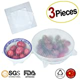 Amazon Price History for:Rolican Silicone Stretch Lids Reusable 3 Pack Food Wrap Seal Covers keep food fresh for Environmental Food Wraps-26x26cm/15x15cm