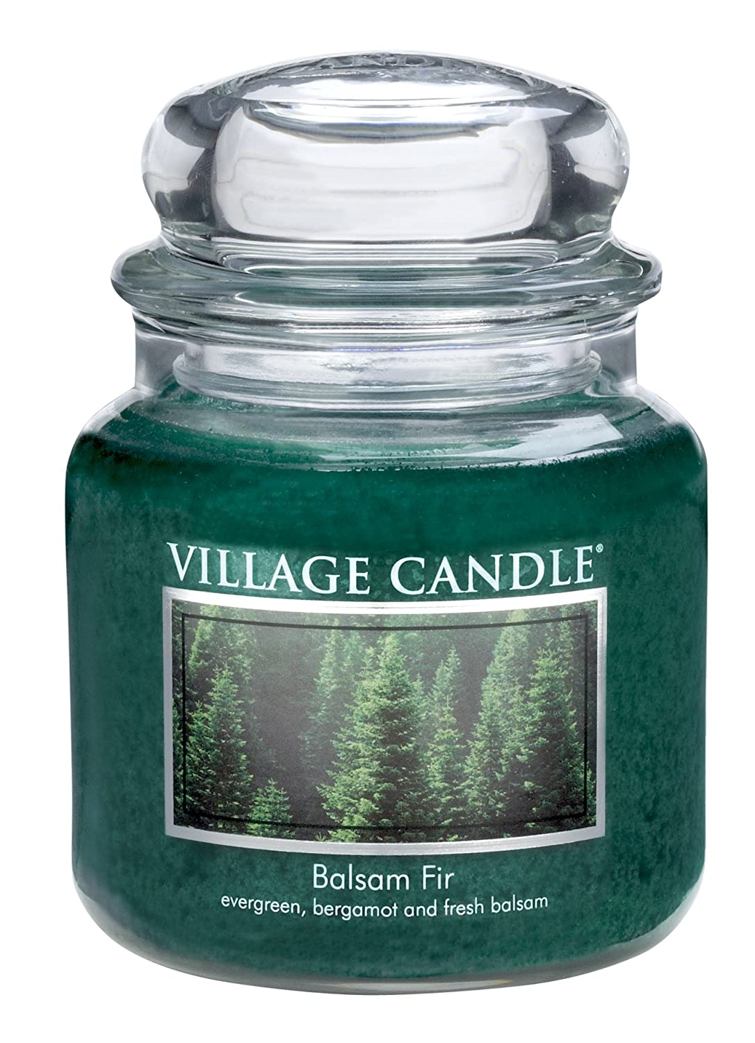 Village Candle Balsam Fir 11 oz Glass Jar Scented Candle, Small Inc. 106011383