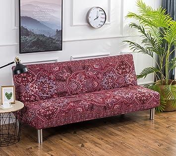 Cornasee Funda de Clic-clac elástica, Cubre/Protector sofá de 3 plazas,impresión Floral,N: Amazon.es: Hogar