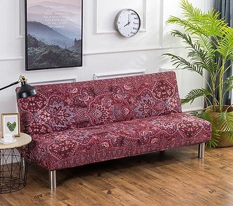 Cornasee Funda de Clic-clac elástica, Cubre/Protector sofá de 3 plazas,impresión Floral,N