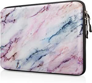 "FINPAC 13-inch Hard Shell Laptop Sleeve Case for 13.3"" MacBook Pro/Air, Surface Laptop 3/2, Dell Inspiron 13/XPS 13, Shockproof & Water-Resistant Notebook Carrying Cover Protective Bag (Marble Pink)"