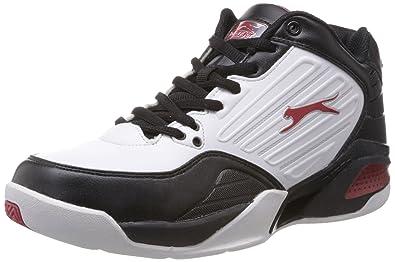 af00d38512986 Slazenger Men's Draft White, Black and Red Mesh Running Shoes - 12 ...