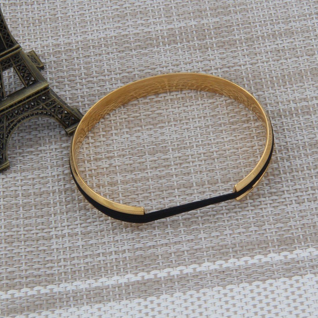 Zuo Bao Steel Bracelet V Groove Cuff Bangle