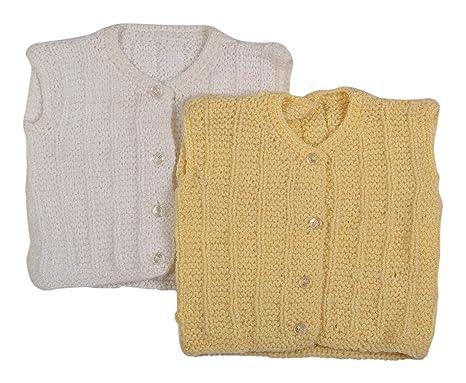 9ac540310 BabyBlossom Baby-Boy s and Baby-Girl s Handmade Wool Sleeveless ...
