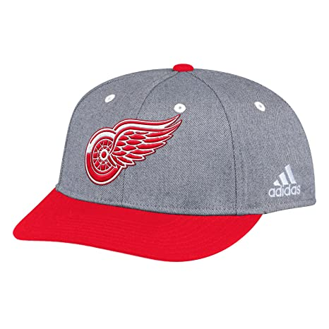 newest 21980 05ed4 Image Unavailable. Image not available for. Color  adidas Detroit Red Wings  NHL Two Tone Structured Cap   Adjustable