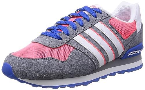 adidas 10K W - Zapatillas Deportivas para Mujer, Color Gris/Rosa/Blanco, Talla 36 2/3: Amazon.es: Zapatos y complementos
