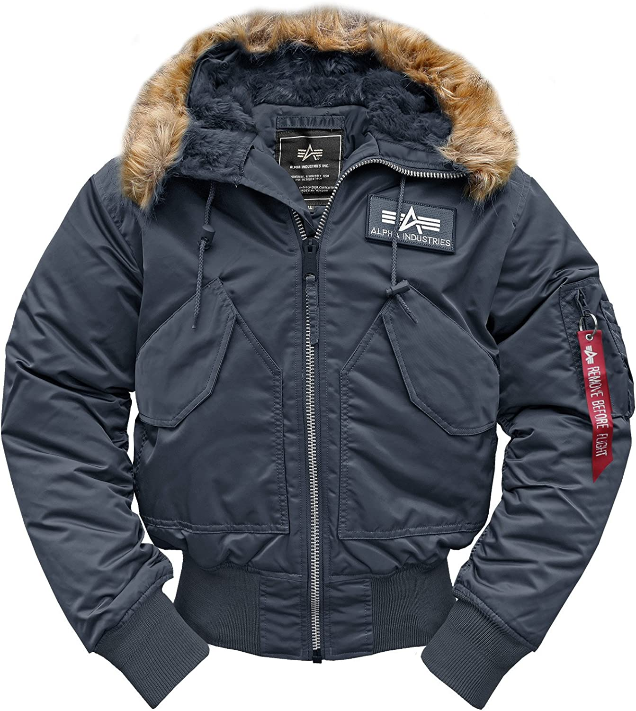 Chaqueta de plumas para hombre Alpha Industries con capucha Rep.-Blue XL