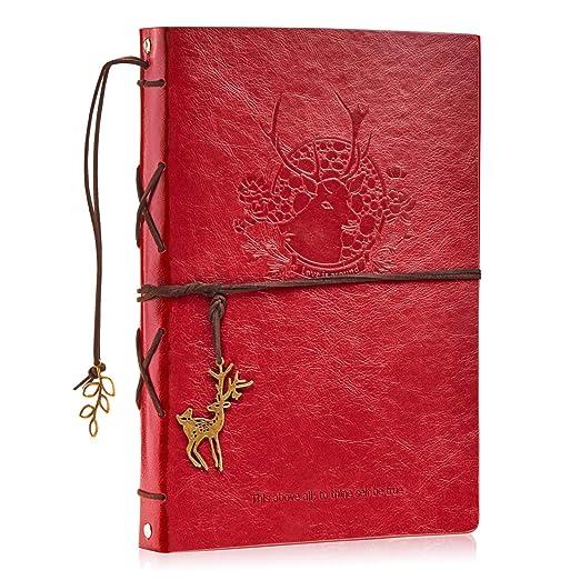 Maruelous Álbum de Fotos Cuero Scrapbook Vintage Álbum Scrapbooking DIY Libro de Memoria Presentes Navidad Cumpleaños para Las Esposa Hija Madre ...