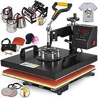 Mophorn Heat Press Machine 15x15 inch T-Shirt Heat Press Transfer Combo Swing-Away Presser Mug Hat Press 8IN1 Digital Multifunction Transfer (8in1 Presser)