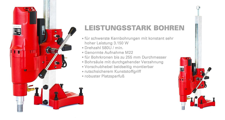 3500W Kernbohrmaschine Kernbohrer Bohrmaschine f/ür Nass und Trockenbohrungen geeignet Das BAUTEC KERNBOHRGER/ÄT S305mm