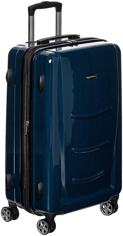 AmazonBasics Valise rigide à roulettes pivotantes, Lot de 3valises (55 cm, 68 cm, 78 cm), Bleu marine Lot de 3valises (55 cm N991