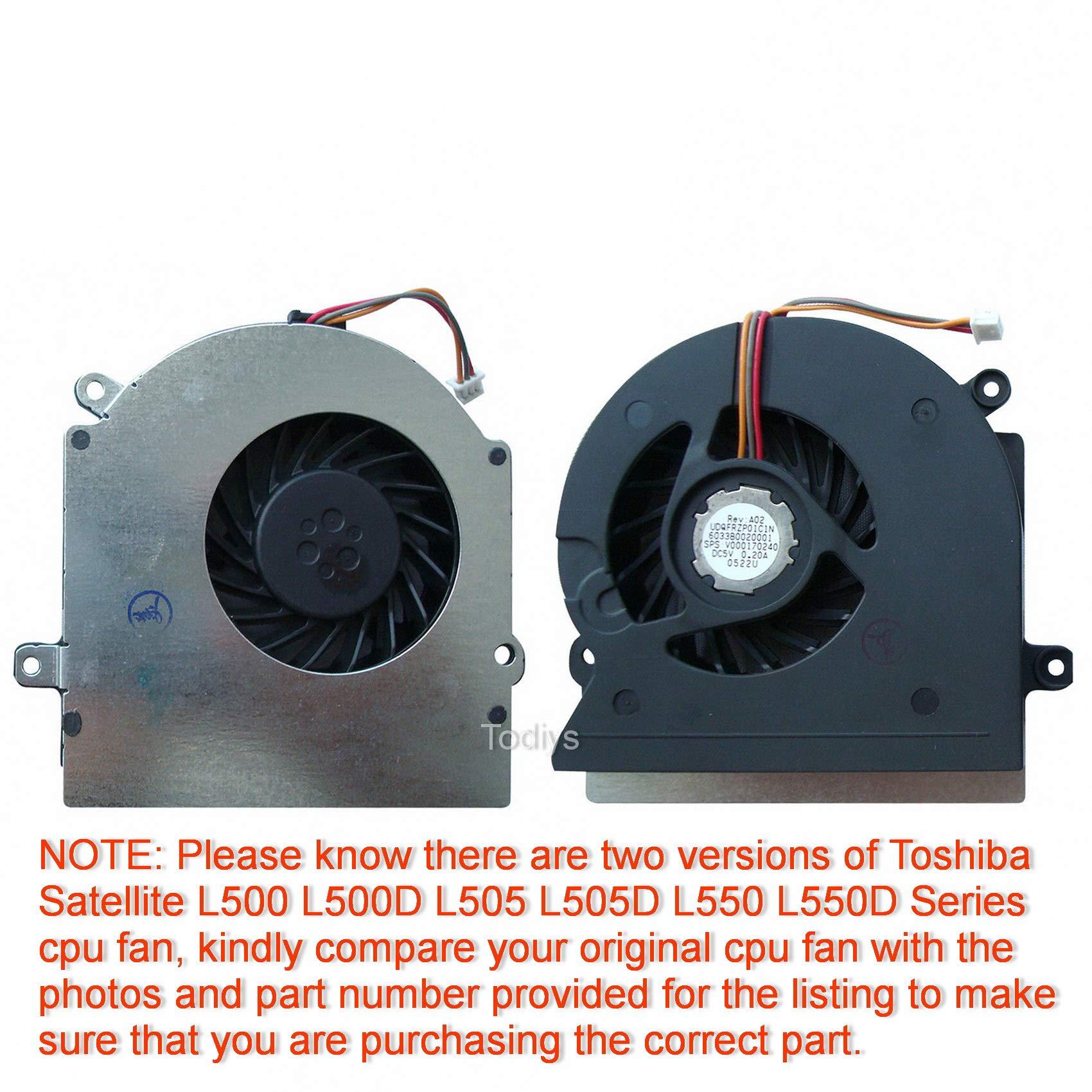 Cooler Para Toshiba Satellite L500 L500d L505 L505d L550 L550d Series L500-017 L500-st5505 L500d-11p L505-11d L505-s6953