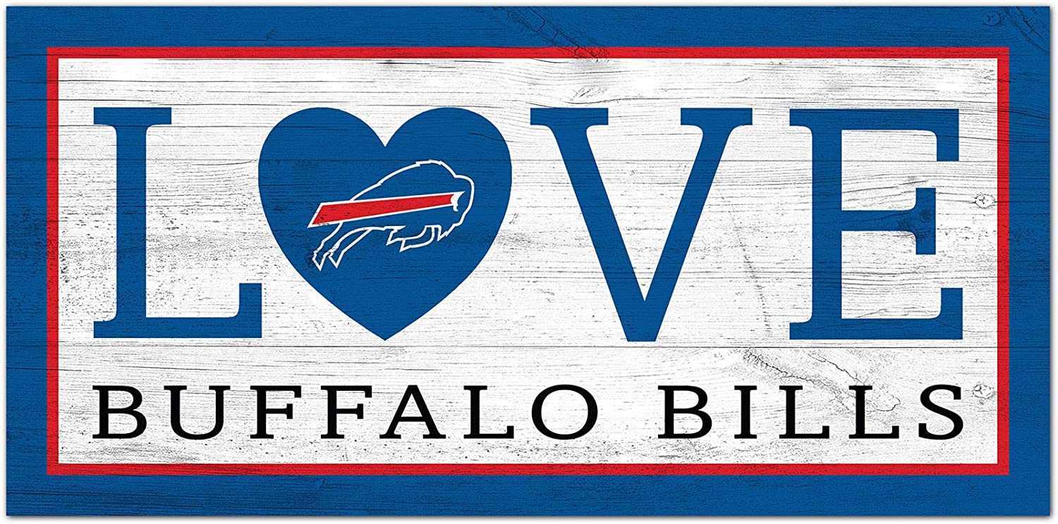 Fan Creations NFL Buffalo Bills Unisex Buffalo Bills Love Sign, Team Color, 6 x 12