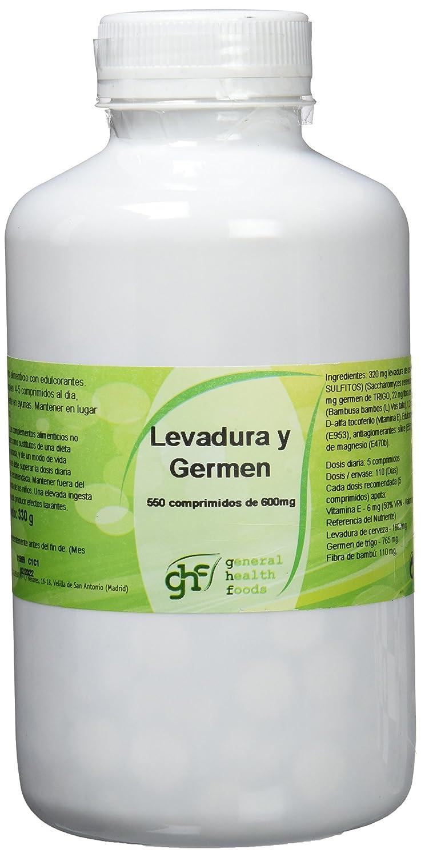GHF Levadura de Cerveza y Germen de Trigo 550 comprimidos 600mg: Amazon.es: Salud y cuidado personal