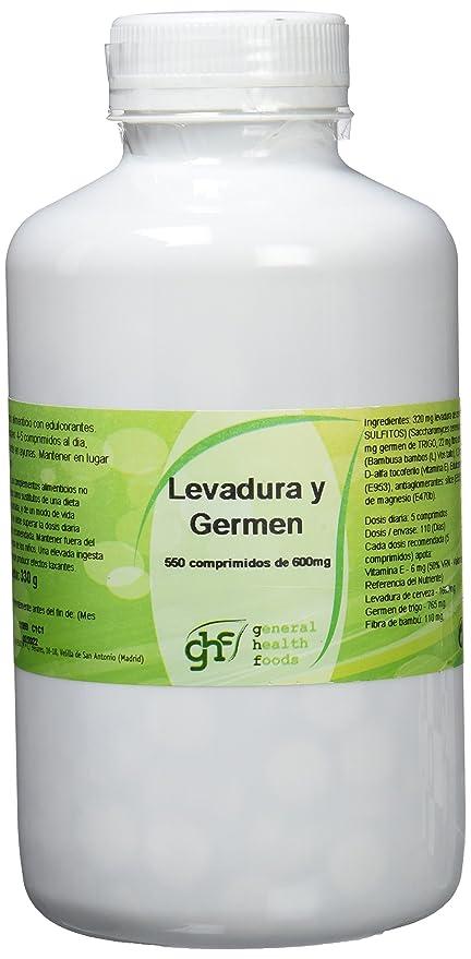 GHF Levadura de Cerveza y Germen de Trigo 550 comprimidos 600mg