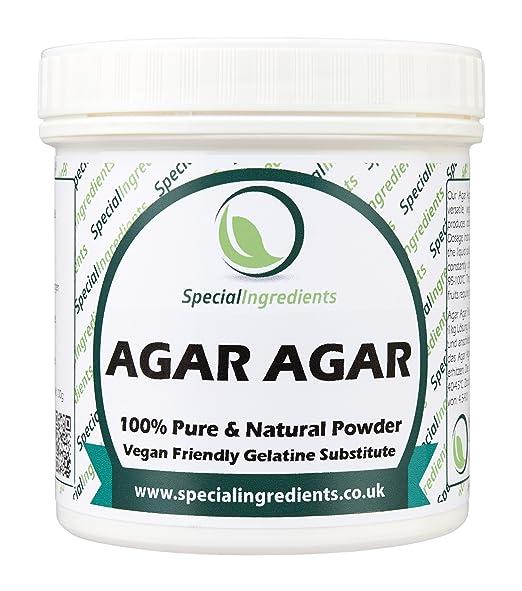 Agar Agar en Polvo 500g - gelatina superior del vegano de la calidad (etiquetas e