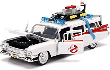 Jada Toys Hollywood Rides: Ghostbusters Ecto-1 Die-Cast Collectible Toy Model Car/Vehicle, White, 1: 24 Scale