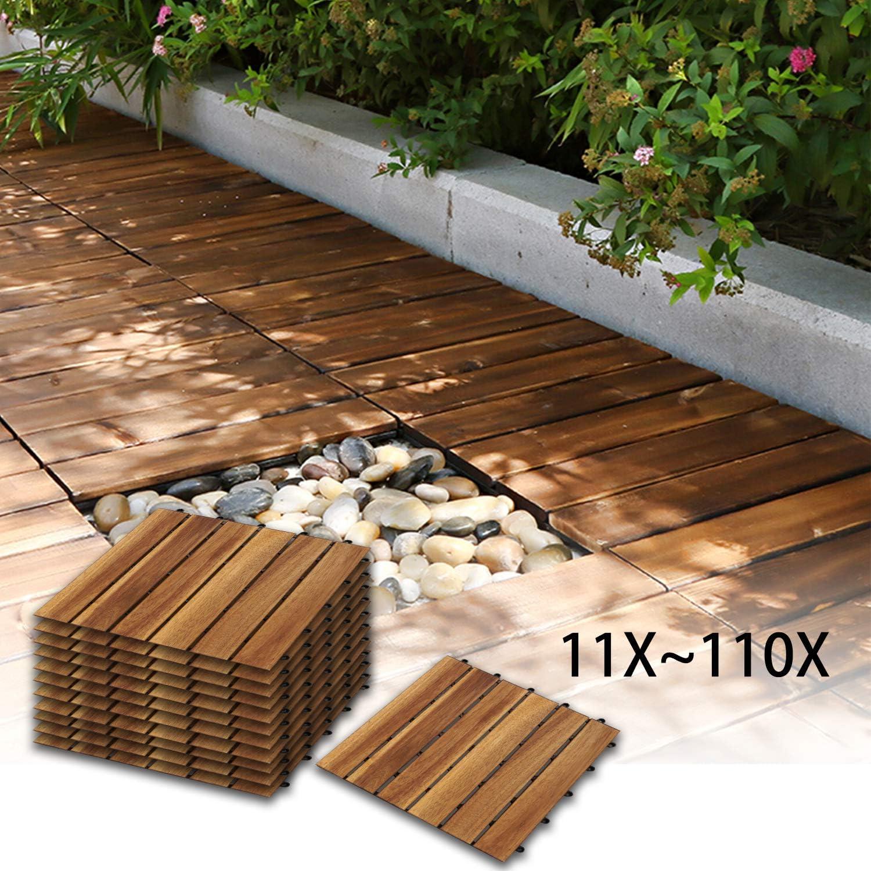 Model A, Größe 20 Stück   20m² Klick Fliesen für Garten Terrasse ...