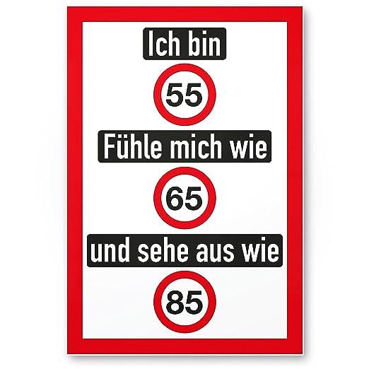 DankeDir!. Ich Bin 55 años, Divertido plástico Cartel - 55 ...