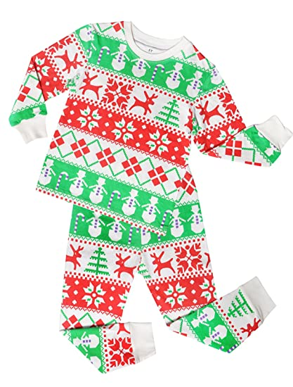 ALove Christmas Pajamas for Little Boys Girls Pjs Long Sleeve Kid Pajamas Sets 5T