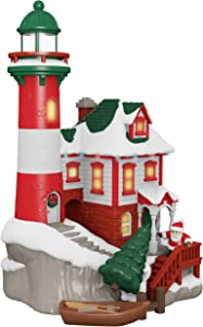 Hallmark Keepsake Ornament 2019 Year Dated Luminous Lighthouse Musical Tabletop Decoration with Light (Plays Christmas is Coming Song)