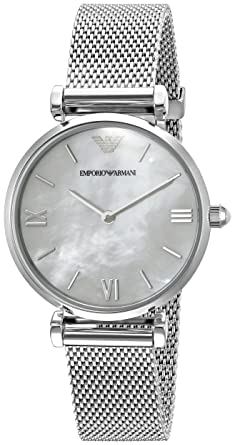 bbaf299807d0 Amazon.com  Emporio Armani Women s AR1955 Retro Silver Watch ...