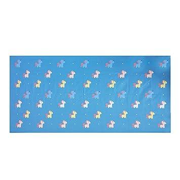 zipsoft niños toalla de playa (unicornio grande toalla de microfibra (75 x 150 cm