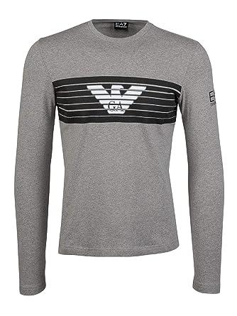 Repliken neue Produkte für modischer Stil EA7 T-Shirt Emporio Armani EA 6ZPT30 Uomo Grigio Manica ...