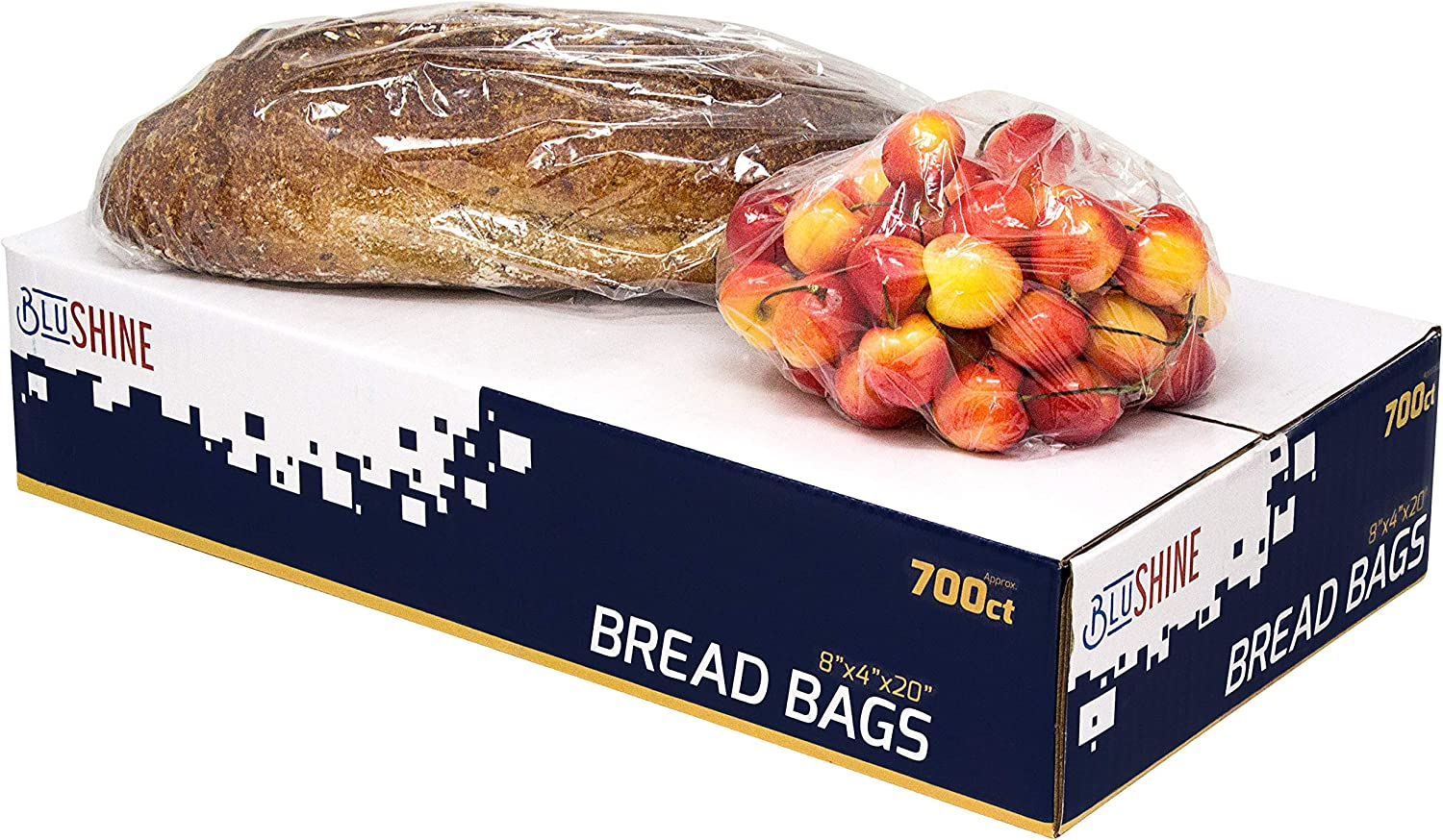 [700 Pack] Strong Clear Plastic Bread Bags – Perfect for Storing Loaves, Pastries, Baked Goods, Produce – for Home or Commercial Food Storage Solutions
